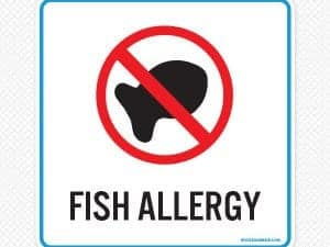 Fish Allergy Sign