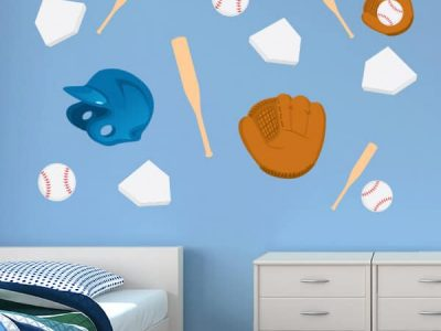 Kids Room Decor Batter Up