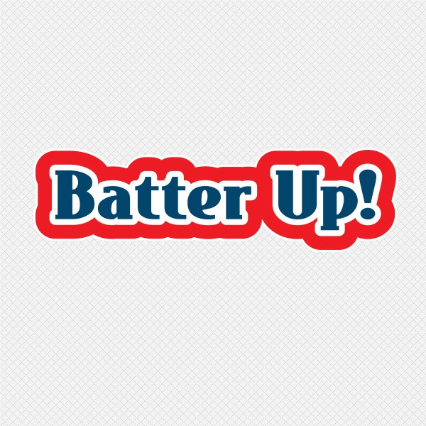 Restickable Wall Name Batter Up