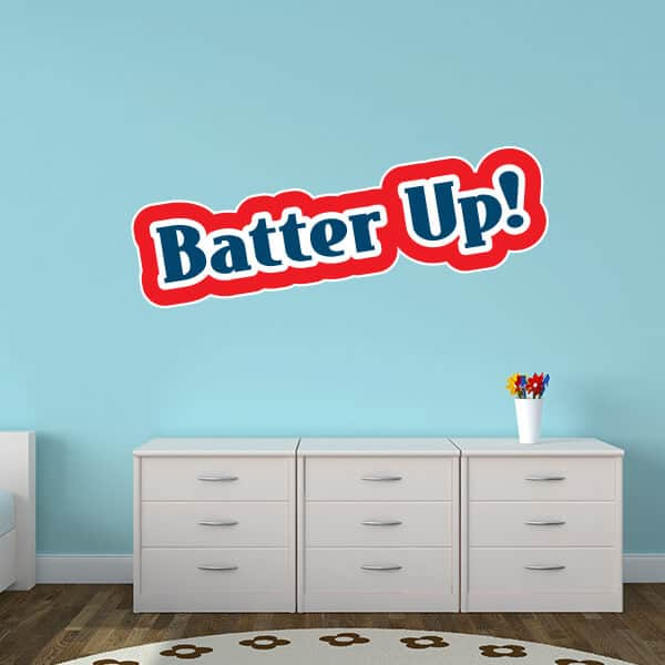 Wall Name Batter Up Removable Decor