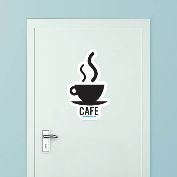 Cafe Custom Door Graphic
