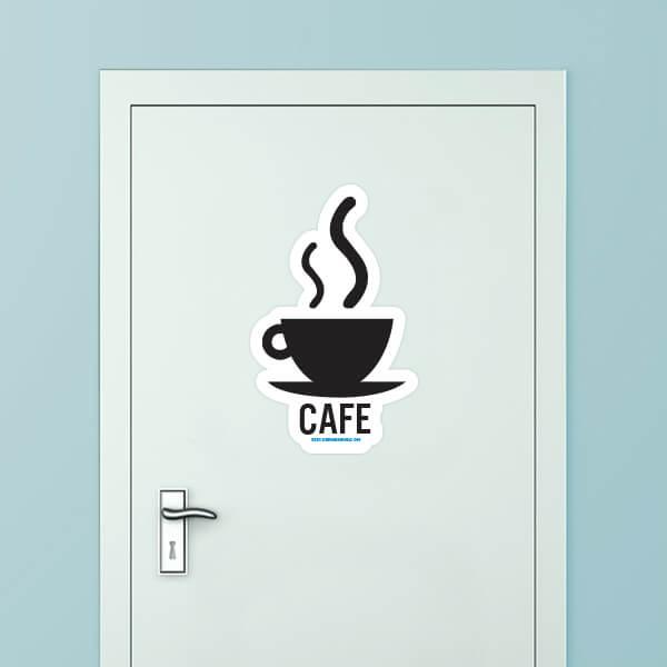 Cafe Custom Door Graphic