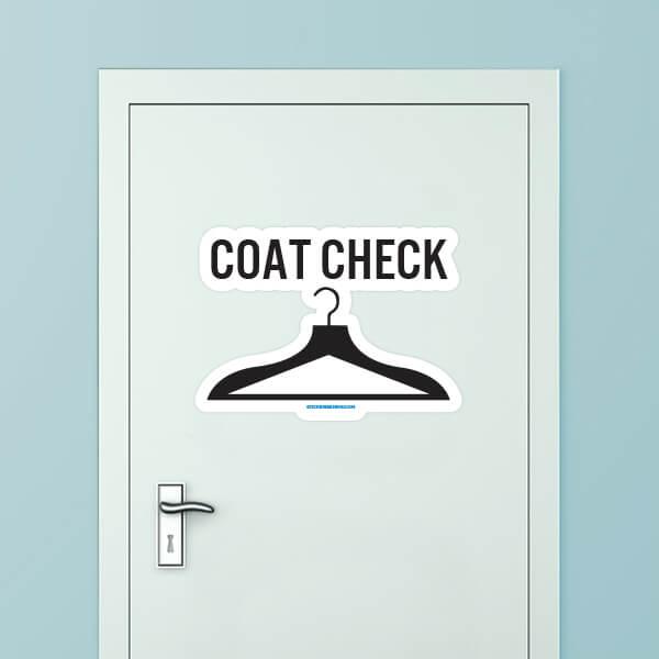 Coat Check Custom Door Graphic
