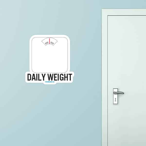 Daily Weight Custom Wall Graphic