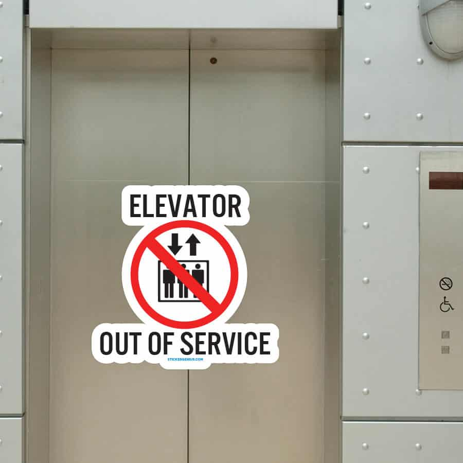 Elevator Out Of Service Custom Graphic