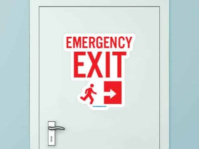 Emergency Exit Custom Door Graphic