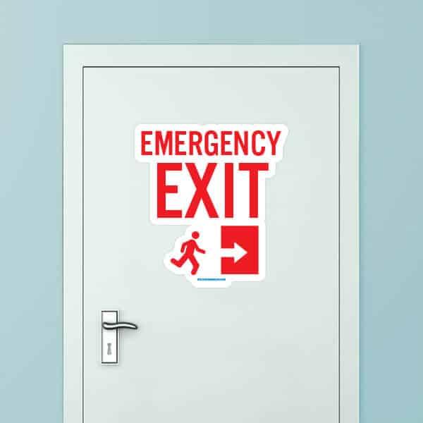 Emergency Exit Custom Door Graphic