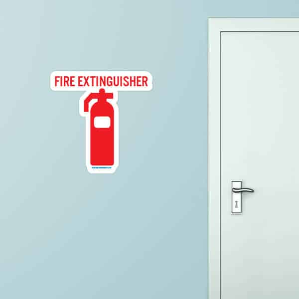 Fire Extinguisher Wall Decal
