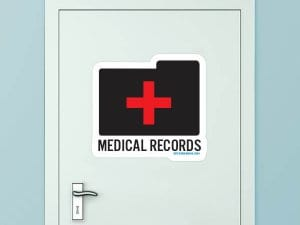 Medical Records Custom Door Graphic