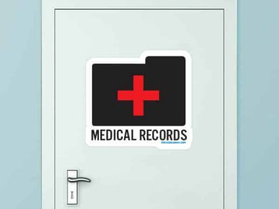 Medical Records Custom Door Graphic