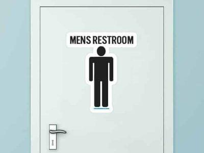 Men's Restroom Custom Door Graphic