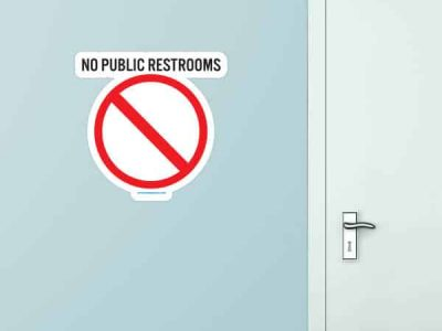 No Public Restroom Custom Wall Graphic