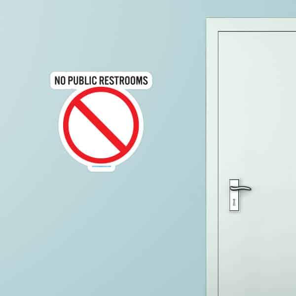 No Public Restroom Custom Wall Graphic