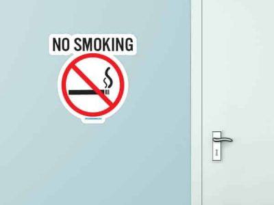 No Smoking Custom Wall Graphic