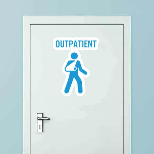 Outpatient Custom Door Graphic