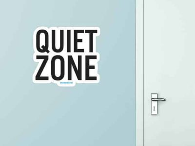 Quiet Zone Custom Wall Graphic