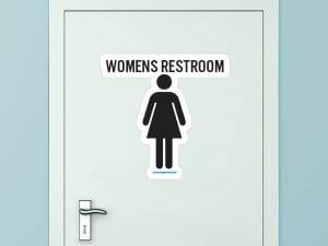 Women's Restroom Custom Door Graphic