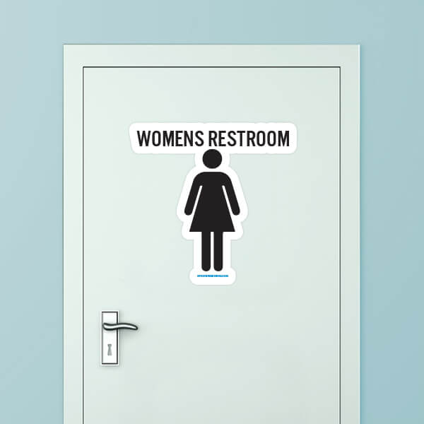 Women S Restroom Custom Door Graphic