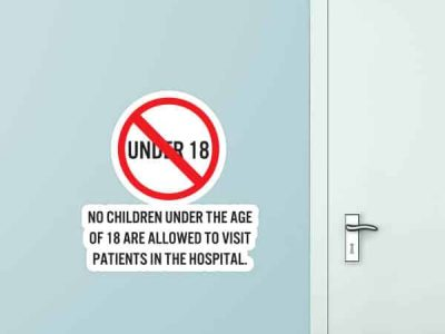 No Children Under 18 Custom Wall Graphic