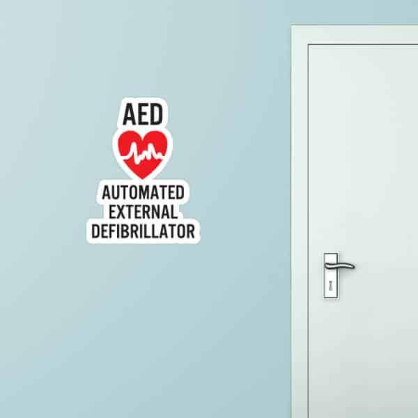 Automated External Defibrillator Custom Wall Graphic