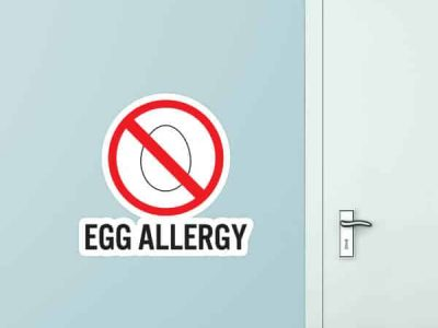 Egg Allergy Custom Wall Graphic