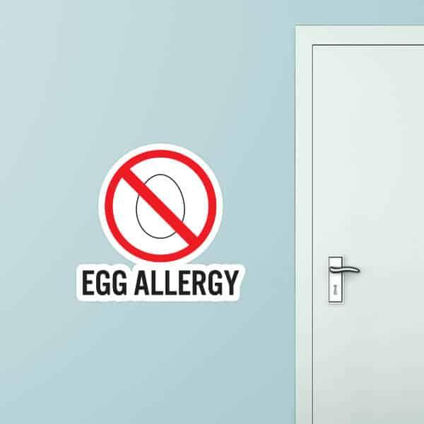 Egg Allergy Custom Wall Graphic