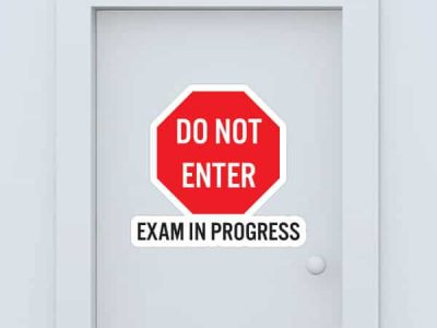 Do Not Enter Exam In Progress Custom Door Graphic
