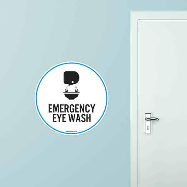 Eye Wash Circle Wall Graphic