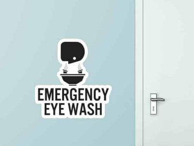 Emergency Eye Was Custom Wall Graphic