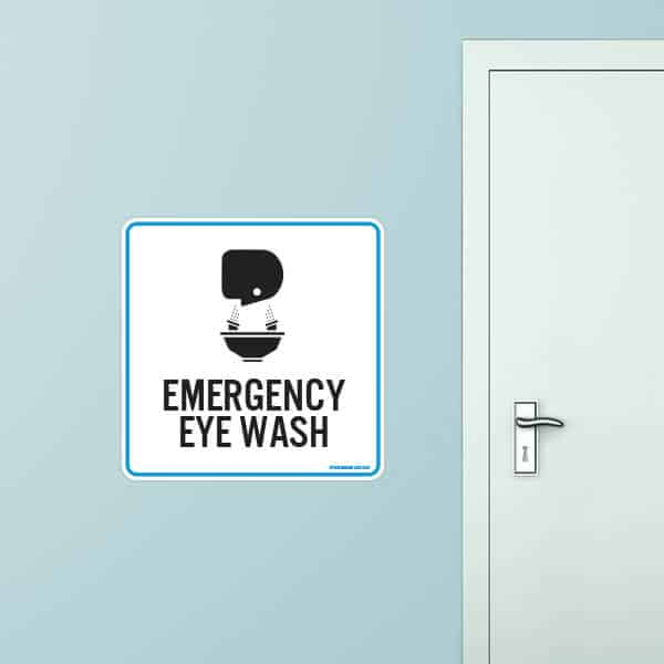 Eye Wash Rounded Rectangle Wall Graphic