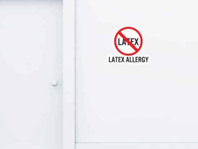 Latex Allergy Custom Wall Graphic