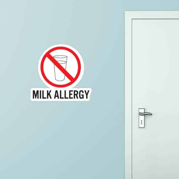Milk Allergy Custom Wall Graphic