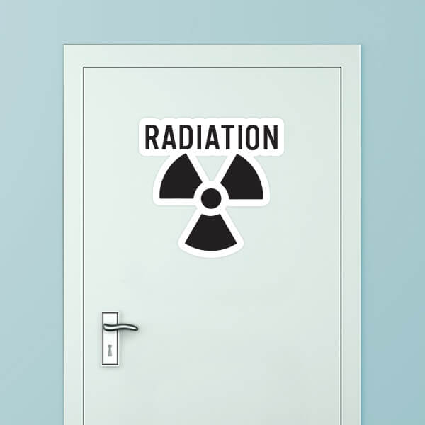 Radiation Custom Door Graphic