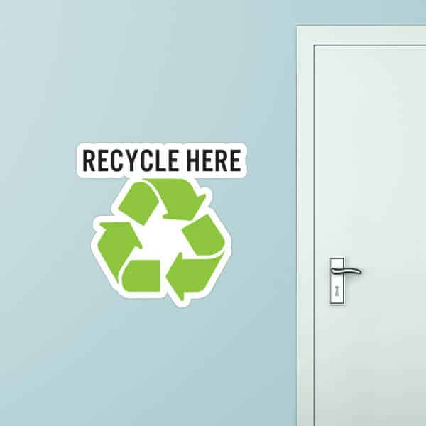 Recycle Here Custom Wall Graphic
