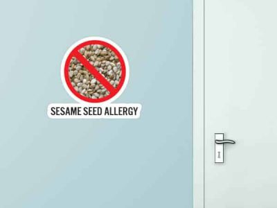 Sesame Seed Allergy Custom Wall Graphic