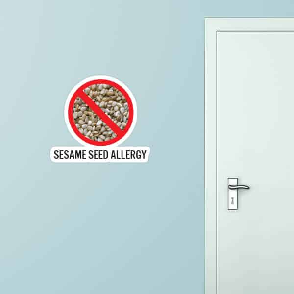Sesame Seed Allergy Custom Wall Graphic