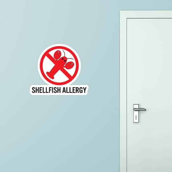 Shellfish Allergy Custom Wall Graphic