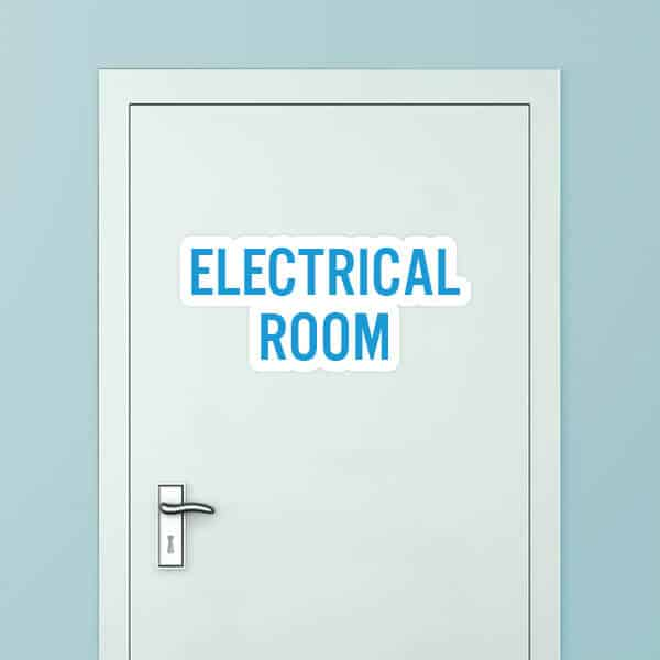 Electrical Room Rounded Door Graphic