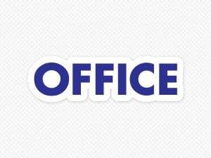 Office Door Graphic