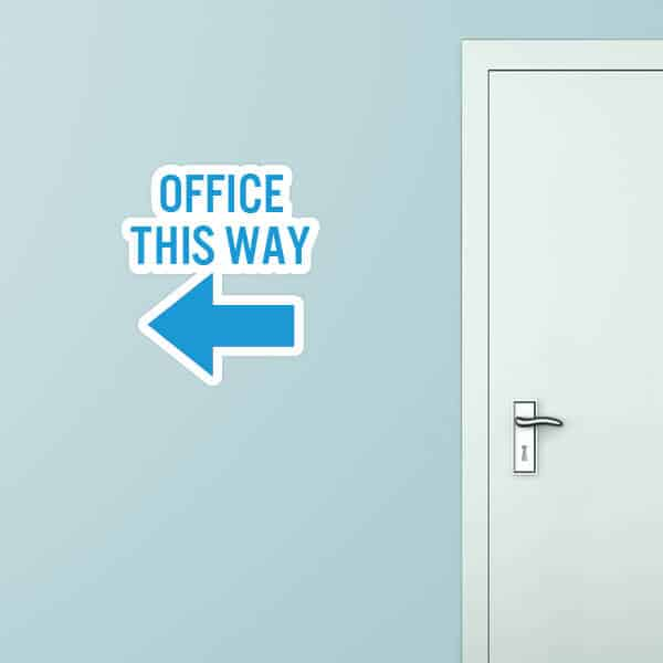 Office This Way Left Custom Wall Graphic