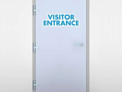 Visitor Entrance Door Graphic