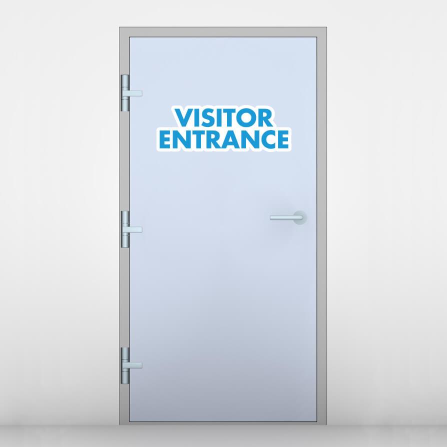 Visitor Entrance Door Graphic
