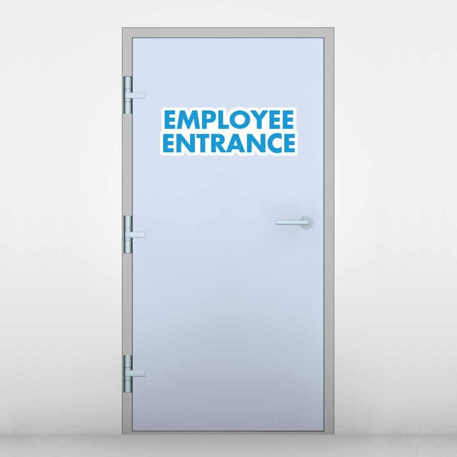 Employee Entrance Door Graphic