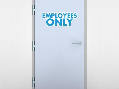 Employees Only Door Graphic