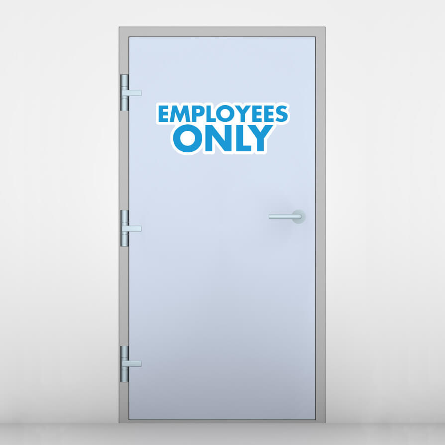 "Be the first to review ""Employees Only Door Graphic"" Cancel reply"