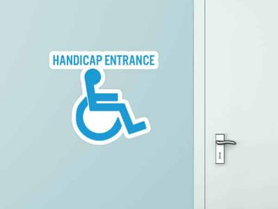 Handicap Entrance Custom Wall Graphic