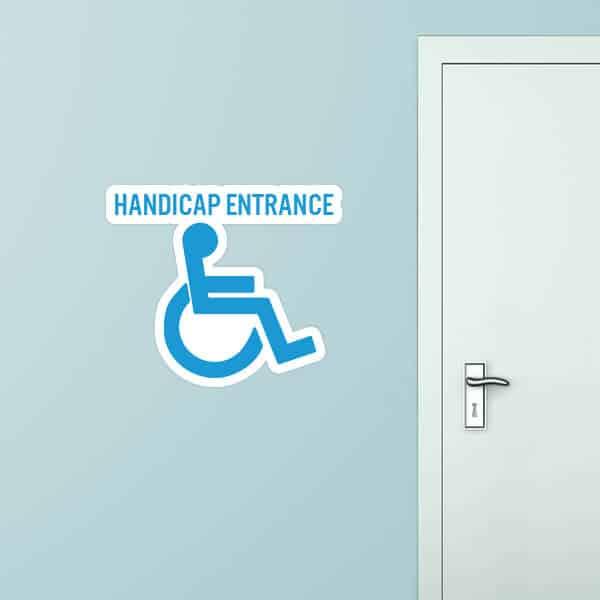 Handicap Entrance Custom Wall Graphic