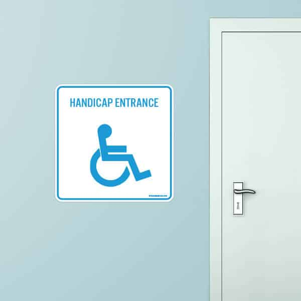 Handicap Entrance Rounded Rectangle Wall Graphic