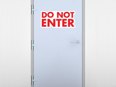 Do Not Enter Door Graphic
