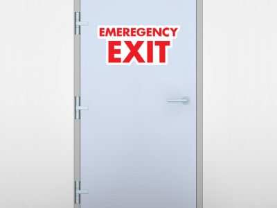 Emergency Exit Door Graphic